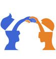people head handshake vector image