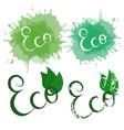 set of handwritten calligraphy inscription eco vector image