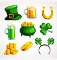 a set of symbols for the of st patrick s day vector image