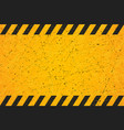 a worn black striped scratched warning sign vector image
