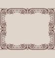 an ornamental framework in vintage style vector image vector image