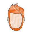 avatar man face male character vector image vector image
