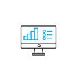 bar chart legend thin line stroke icon ba vector image