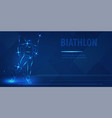 biathlon skiing speed race man figure skating vector image vector image