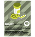 biology color isometric poster vector image vector image
