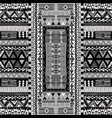 black and white doodle african pattern vector image vector image