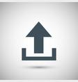 blue arrow download vector image vector image