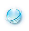 Blue glossy abstract globe vector image vector image