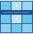 blue winter seamless pattern set vector image vector image