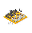 board game chess isometric view vector image vector image