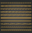 border lines ornamental vinage set vector image