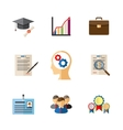Business career colored icons vector image vector image