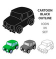 car icon in cartoon style isolated on white vector image vector image