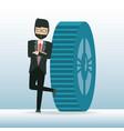 cartoon businessman design concept vector image vector image