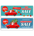 christmas sale banners sat vector image
