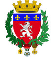 coat of arms of lyon in auvergne-rhone-alpes