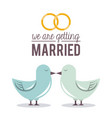 colorful poster of we are getting married with vector image