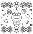 coloring page black and white vector image
