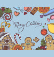 composition with colored gingerbread men vector image vector image