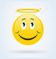 Cute angel emoticon smiling face