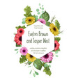 cute floral pattern wedding invitation greeting vector image