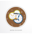 delivery service web flat background vector image