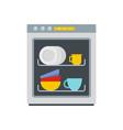 dishwasher icon flat style vector image vector image