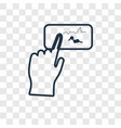 draw concept linear icon isolated on transparent vector image
