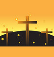 easter crosses vector image vector image