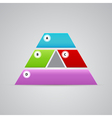 elegant pyramid logo from many parts vector image vector image