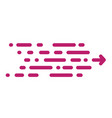 fashionable new arrow in a modern style pink line vector image