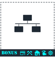 Flowchart icon flat vector image vector image