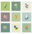 Flower logo templates set vector image vector image