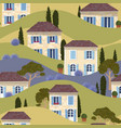 french town seamless pattern vector image vector image