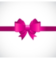 Gift Card with Pink Bow and Ribbon vector image vector image