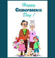 happy grandparents day greeting card with vector image
