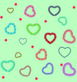 heart color on green seamless pattern fashion vector image vector image