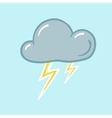 icon of thunderstorm vector image vector image