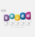 infographic label design with icons and 5 options vector image