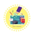 Invest in Education Concept Icon Flat Design vector image vector image