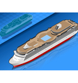 isometric cruise ship vector image vector image