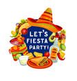 let fiesta party mexican cinco de mayo holiday vector image vector image