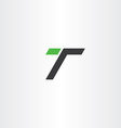 letter t green black simple logo icon vector image