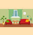 living room interior including furniture vector image vector image