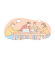 meeting coworking cooperation analysis vector image vector image