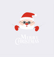 merry christmas greeting card santa claus with vector image