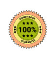 money back guarantee badge isolated icon business vector image vector image