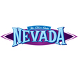Nevada The Silver State vector image vector image