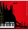 New york background vector image vector image