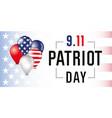 patriot day card usa balloons banner vector image vector image